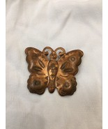 Vintage Copper Butterfly Brooch Pin Back Jewelry Womens Girls Fashion Style - $4.26