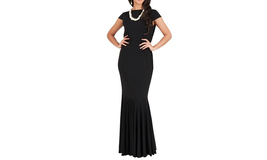 Women's Long Short Sleeve Cocktail Party Evening Gown Maxi Dress - $29.99