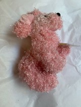 "7"" Ganz Webkinz Pink Poodle HM107 Plush Stuffed Animal W Used CODE Clean Cond image 2"