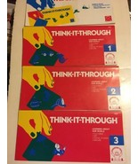Discovery Toys Think It Through LEARNING ABOUT OUR WORLD 1 2 3 Set BOOK ... - $14.84