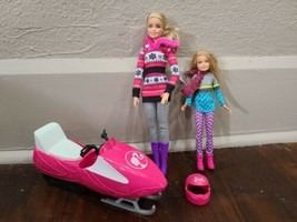 BARBIE Set Snowmobile Fun Playset Barbie and Chelsea 'Holiday Snow' - $19.34