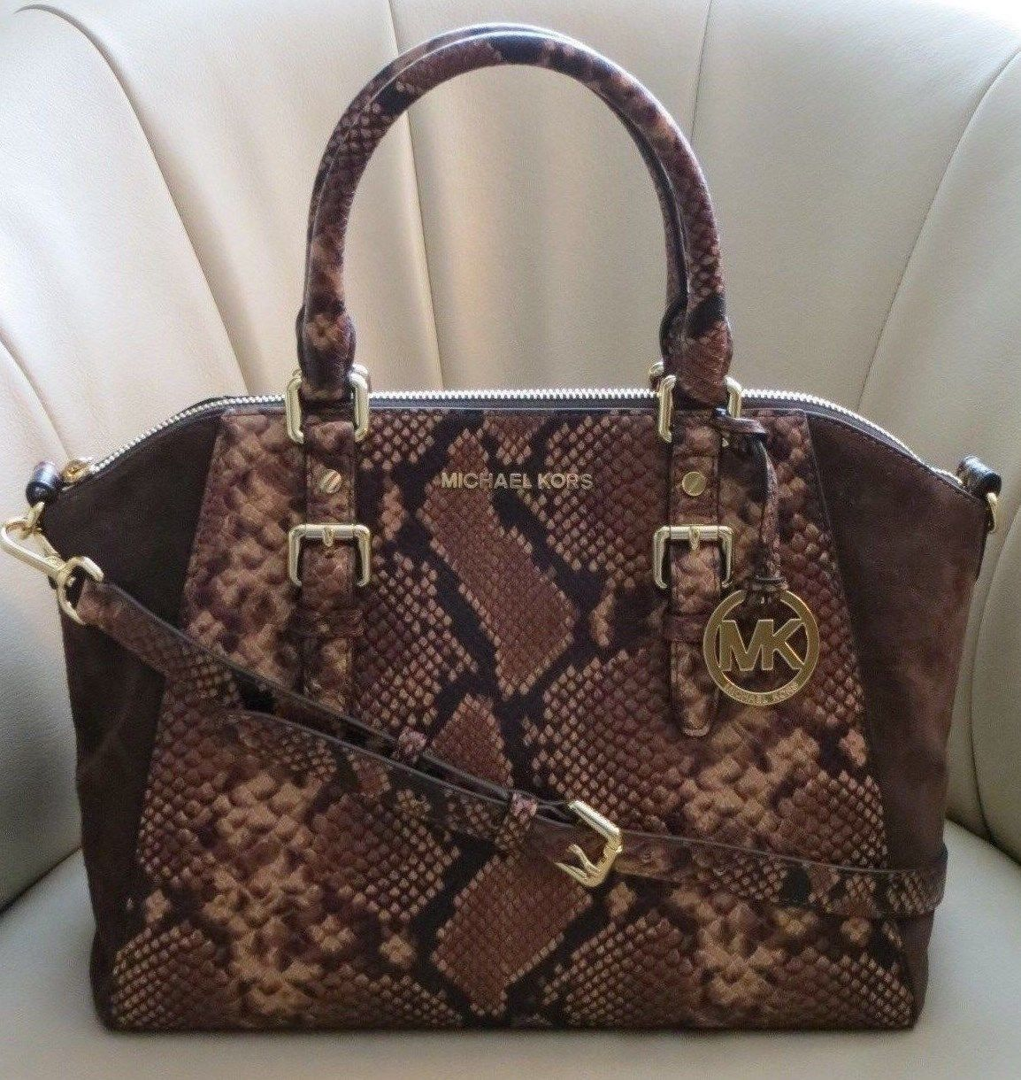 d606f309e4a0 Michael Kors MK Ciara Embossed Leather Large and 50 similar items