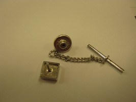TIE TACK INITIAL G HICKOK sterling tie tack - $9.89