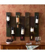Wall Mount Wine Rack Seven Bottles Capacity Metal Storage Display Organi... - €184,24 EUR