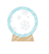 Snow Globe Shaker DIGITAL File.  Instant Download. PNG & SVG Files. No Physical