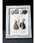 Customized Gift   Love is in the Air Pebble Art - Unique Handmade Gift. ... - $22.99