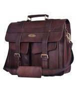 Men's 15.6 Inch Leather Messenger Bag For Laptop Briefcase Satchel Trave... - $58.41+