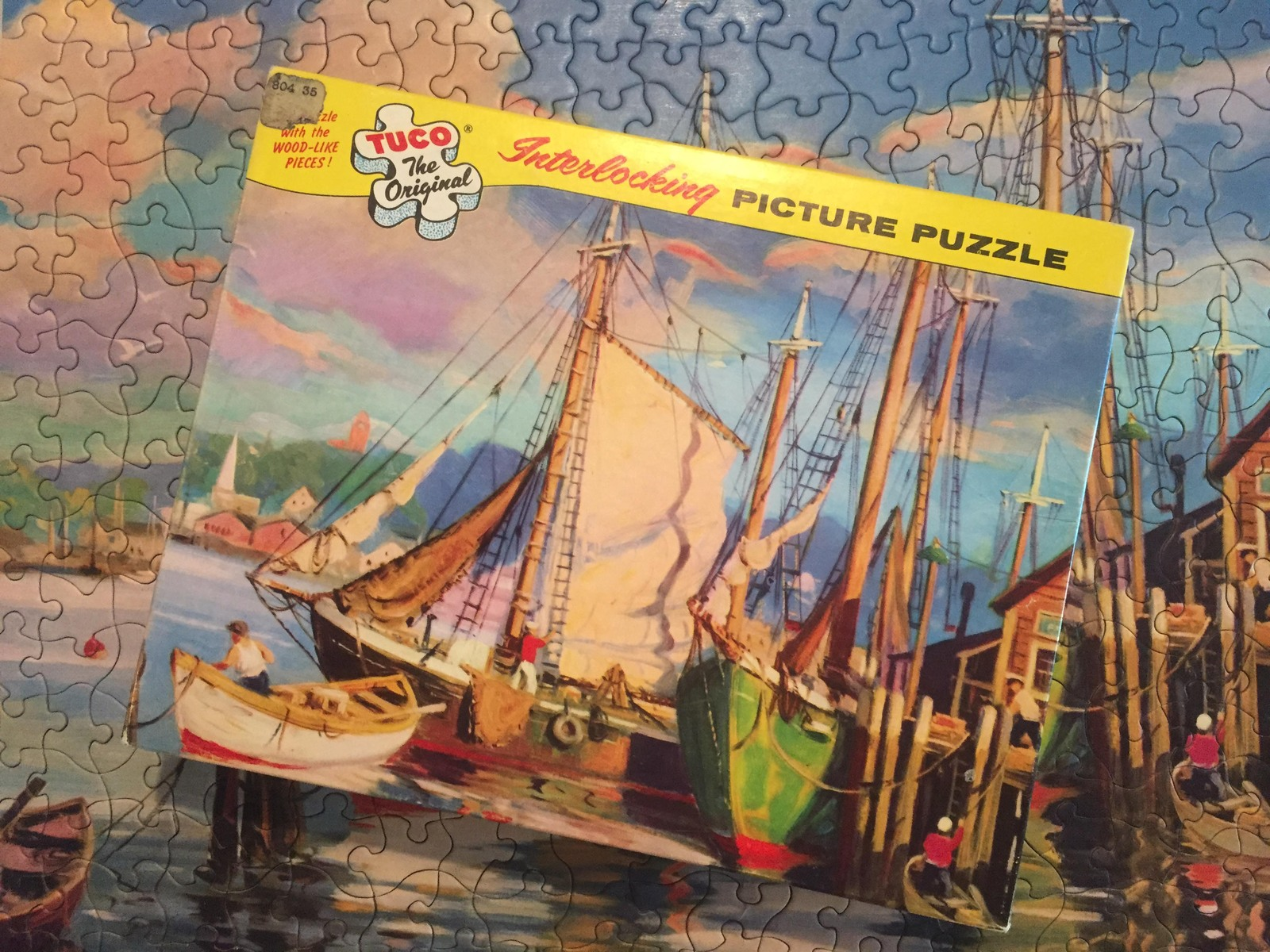 "Vintage 50s Tuco Interlocking Picture Puzzle- #5982 ""Along Cape Cod"""
