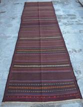 HR 3'3 x 11'2 Vintage Afghan nomadic Kilim Tribal Turkish wool Antique R... - $330.30