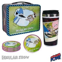 Lunchbox Regular Show Mordecai and Rigby Tin Tote Gift Set Convention Ex... - $24.70