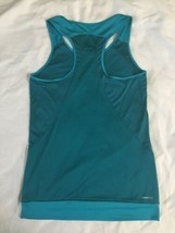 NWOT Adidas Teal White Women Tennis Tank Top Climacool Small Running Yoga image 2