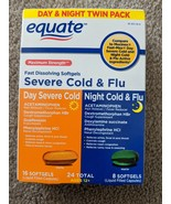 Equate Severe Cold & Flu Exp 11/2021 24 Total Tabs Night & Day Maximum S... - $28.00