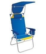 "Rio Beach Hi-Boy High Seat 17"" Folding Beach Chair With Canopy - $75.91"