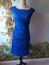 Diane von Furstenberg Women Sleeveless Blue Gabi Ruched Dress Dress Size 8 - $138.59