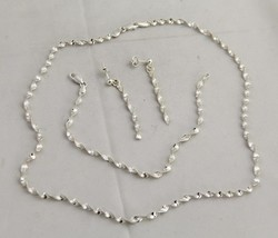 "8"" ITALIAN STERLING SILVER JEWELRY BRACELET ONLY - 2.9 gr - $11.25"