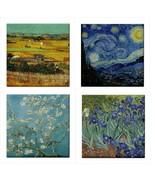 Van Gogh Ceramic Tile Set Of 4 Art Decorative Coaster Backsplash Tiles - $47.49