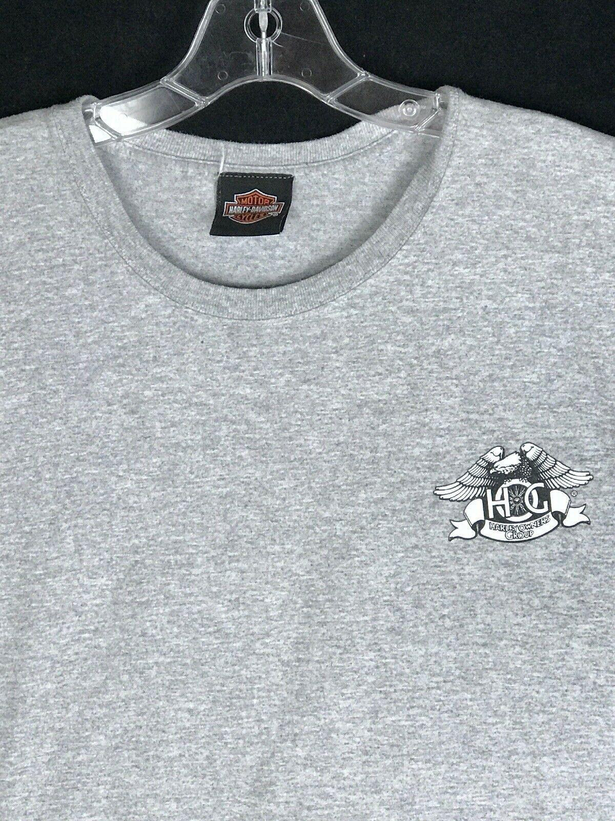 XL HOG Harley Owners Group Davidson Gray T Shirt 2010 Sturgis