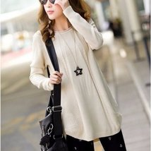 Simple O-neck Knitted Pullover - $23.98