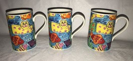 "Dunoon Stoneware Crazy Cats Mug Cup 4"" Scotland Cats & Fish Jane Brooksh... - $30.99"