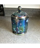 Vintage Indiana Carnival Iridescent Glass Candy Jar - $23.36