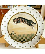 Lowell Herrero Calico Kitty Cat Plate Made by Vandor In Japan 1986 Vintage - $18.70