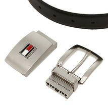 Tommy Hilfiger Men's Set Reversible Leather Belt Removable Buckle 11TL08X007 image 6