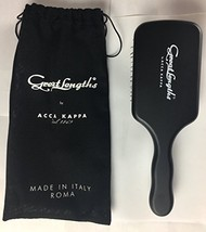 Great Lengths Square Paddle Brush by ACCA KAPPA Made in Italy Wood and B... - $88.28