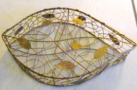 L' Or de Torrente Handmade Original Metal Designed Leaf Fish Basket/Hold... - $65.00