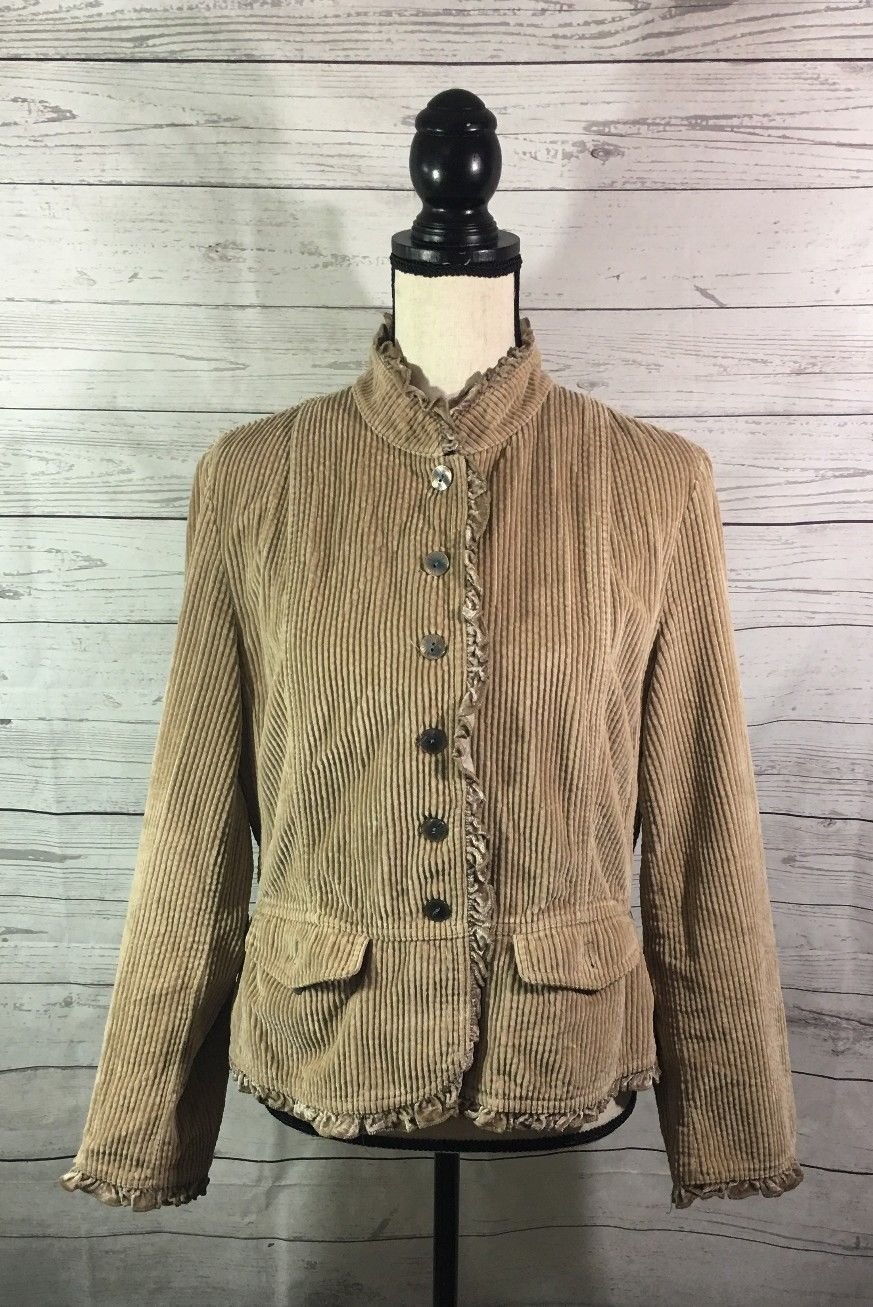 83d489cb85 J. Jill Womens Corduroy Jacket Size M Beige and 50 similar items. S l1600