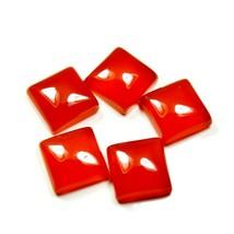 5 PCS 12X12 MM Size Lot Carnelian Square Cabochon Gemstone For Jewelry M... - $31.58