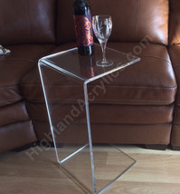 """C-Table Clear Acrylic Lucite Plexiglass END SIDE TABLE 26"""" high couch la... - $98.00"""
