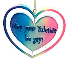 May Your Yuletide be gay!  Christmas Ornament By Kurt Adler-Holiday! - $11.27