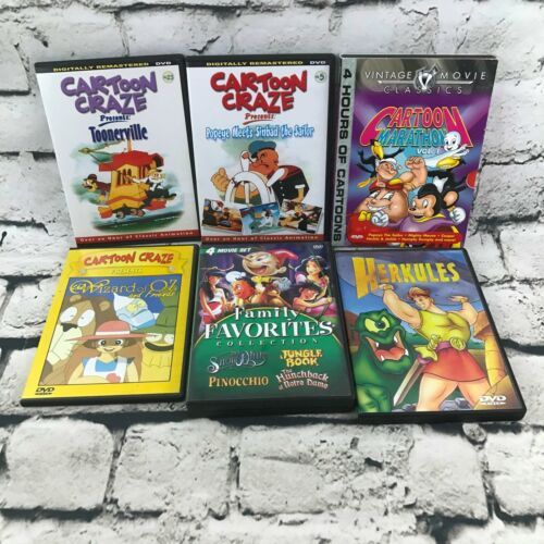 Primary image for Cartoon Craze Marathon Family Favorites Lot Of 6 DVDs Casper Jungle Book Popeye