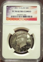2011-S Proof Kennedy Half Dollar NGC PF 70 UC #G019 - $39.99
