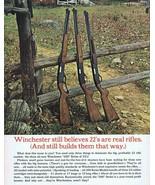 ORIGINAL Vintage 1963 Winchester 22 Rifles Foldout Brochure Booklet - $18.55