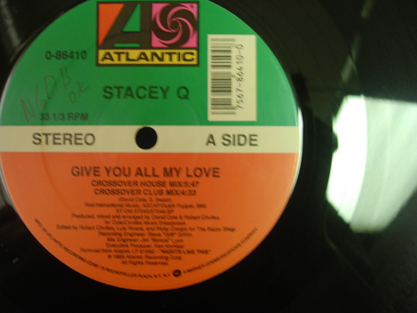 Stacey Q - Give You All My Love - Atlantic 0-86410 - 4 Mixes