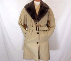 "Vintage L.L.Bean ""DOWN MAINER""  Womens L-XL Down Filled Long Tan Coat USA - $44.09"