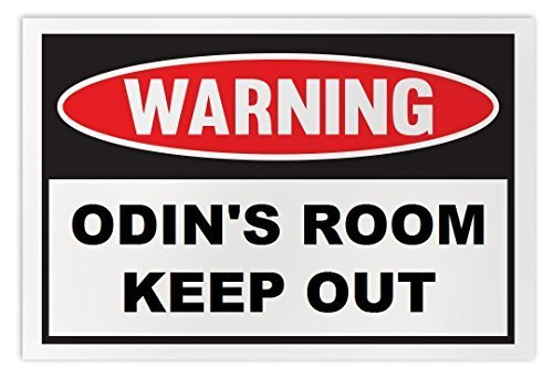 Personalized Novelty Warning Sign: Odin's Room Keep Out - Boys, Girls, Kids, Chi