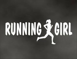 RUNNING GIRL decal for marathon jogging runner for Olympic mile runner - $8.83