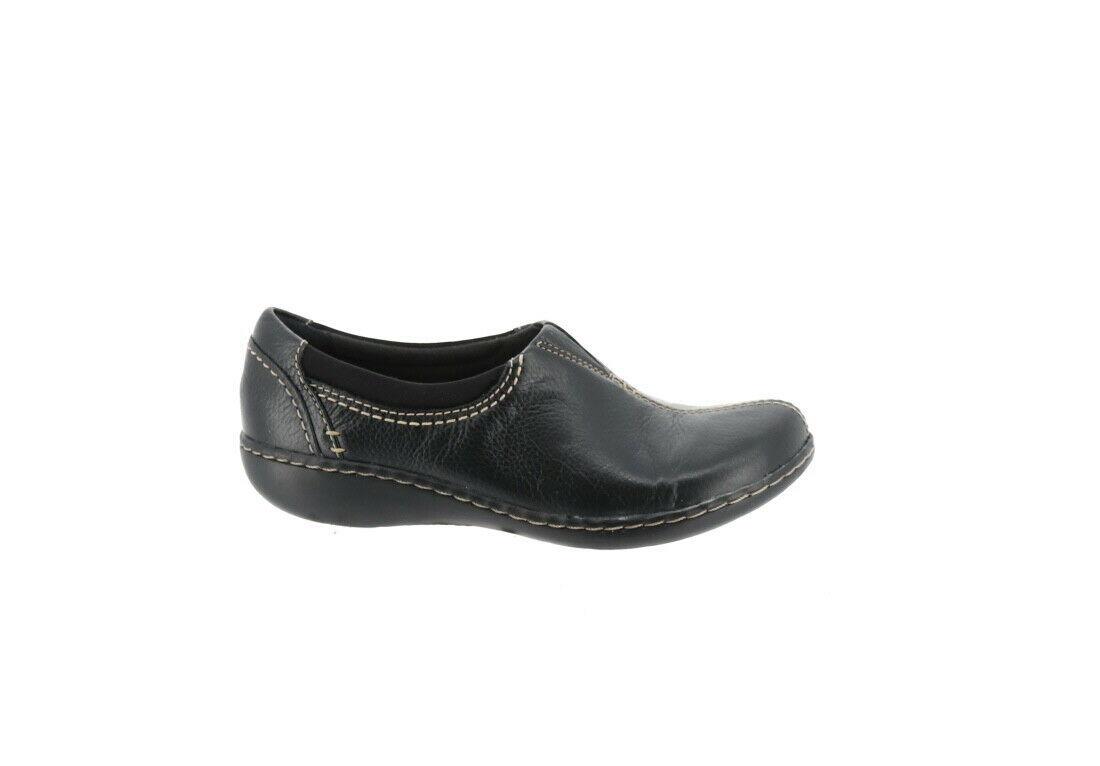 Clarks Leather SlipOn Shoes Ashland Joy Black 7W NEW A344021