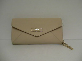 DKNY shoulder bag handbag envelope saffiano leather sand - $131.20
