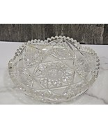"""American Brilliant Cut Glass 8"""" Shallow Bowl Plate Candy Dish - $53.46"""
