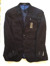 Nautica Mens Two Button Soft Herringbone Suit Coat 42R Burgundy - $52.24