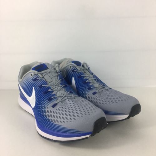 7d912fc088422 12. 12. Previous. Nike Air Zoom Pegasus 34 Shoes Men Size 9.5 Flyease Wolf  Grey White Blue Running