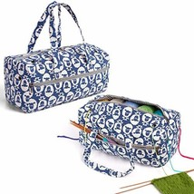 Luxja Knitting Bag, Yarn Bag for Yarn Skeins, Crochet Hooks, Knitting Needles up