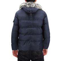 Men's Heavy Weight Warm Winter Coat Puffer Faux Fur Trim Sherpa Lined Jacket image 11