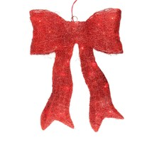 "Northlight 18.5"" Lighted Sparkling Red Sisal Bow Christmas Outdoor Decor... - €29,03 EUR"