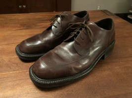 KENNETH COLE Mens Brown Leather Lace Up Square Toe Oxfords Size 12 - $47.50