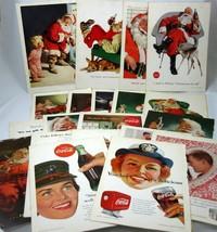 Coke Coca Cola Lot of 21 Magazine Ads Vintage 1950s 1960s National Geogr... - $35.00