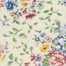 Longaberger Bagel Basket Spring Floral Fabric Over Edge Liner Only New - $9.85